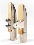 Slide-On Blattschraube für Alto Mundstück, silber inkl. Kappe